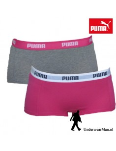 Puma Mini Short Grey Pink 2Pack