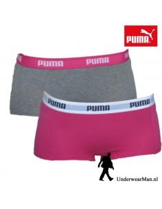 Puma Mini Short Grey Pink 2Pack