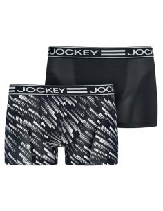 Jockey Microfiber Active Trunk 2Pack Boxershort Polyamide Zwart Wit