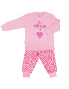 Frogs and Dogs Meisjes Pyjama Zebra Parfait Pink