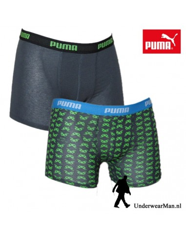 Puma Boxershort Duopak Space Invaders Black