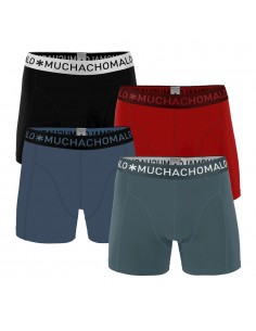 MuchachoMalo 4Pack SOLID 304 Green Blue Red Black Jongens Boxershorts