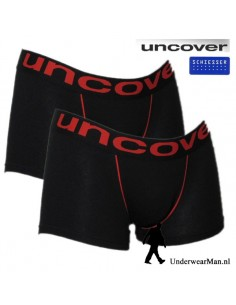 Uncover Trunk Short 2Pack Black Schiesser