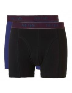 Ten Cate Men Fine Boxershort 2Pack Black and Midnight Blue