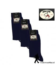 Bonnie Doon Navy Classic 3Pack Herensokken