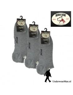 Bonnie Doon Sneakersok 3Pack Grijs