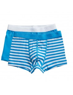 Ten Cate Jongens Boxershort 2Pack Stripe and Diva Blue 2-10Y Boys