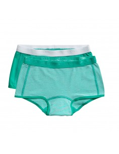 Ten Cate Meisjes Short 2Pack Stripe and Mint 2-10Y Girls