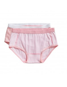 Ten Cate Meisjes Brief Slip 2Pack Stripe an Candy Pink 2-10Y Girls