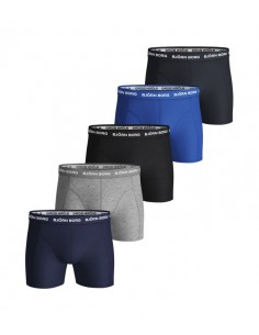 Björn Borg Boxershorts 5Pack Solids Blue Depths