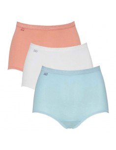 Sloggi Basic Maxi Slip 3 Pack Light Blue Pnk 2+1 gratis