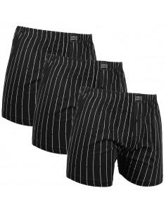 Gino Santi Super Aanbieding Klassieke boxer 3 pak 2+1 Gratis Zwart Pin Stripe