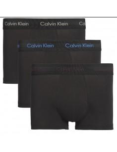 Calvin Klein Ondergoed 3Pack Neon Letters Low Rise Trunk GREY BORDAUX BLUE