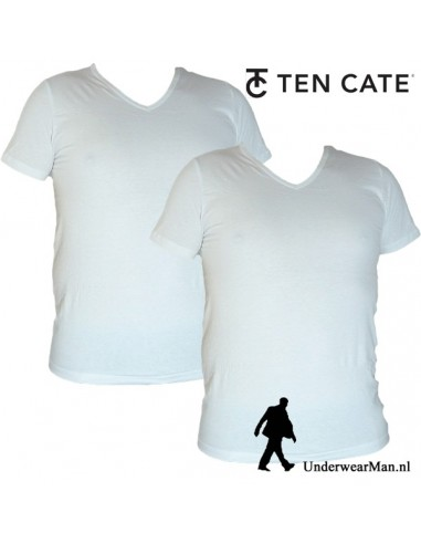 Ten Cate ondergoed Men VShirt wit 2-pack heren