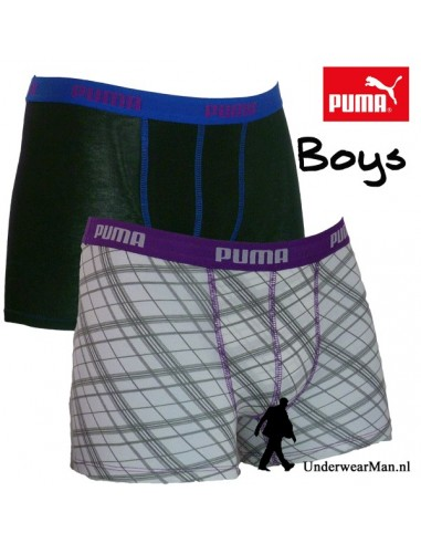 Puma Check White Boxershort 2Pack
