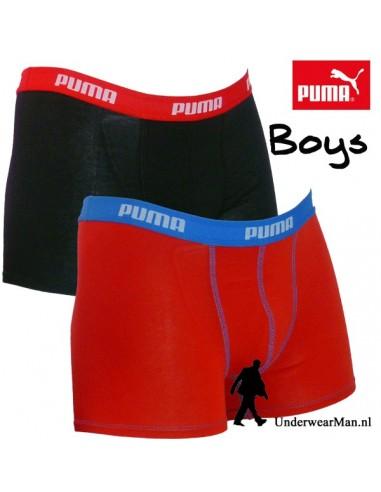 Puma Boxershort Rood Blauw 2Pack Boys