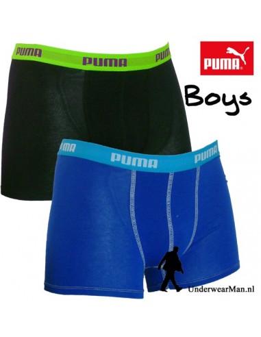 Puma Boxershort Zwart Blauw 2Pack Boys