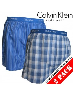 Calvin Klein Ondergoed Woven 2Pack Blue BXR Matrix