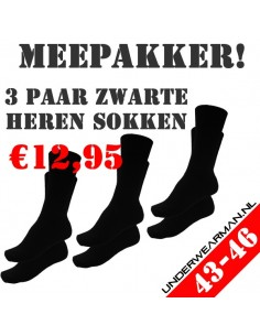 Heren sokken Suaque 3Pack cotton comfort 43-46