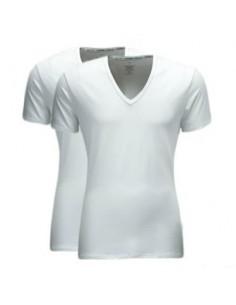 Calvin Klein T-shirt duo pak Wit v-hals
