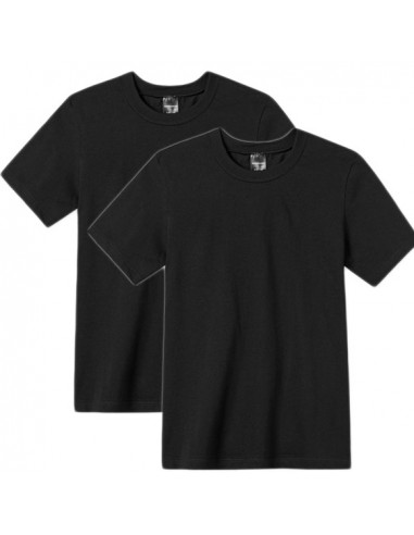 Schiesser Kinder t-shirts zwart 2 pack