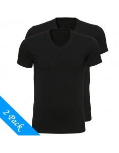 Ten Cate ondergoed Men T-Shirt V-hals zwart 2-pack heren