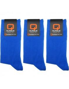 Suaque Heren sokken 3Pack Cotton Comfort 39-42 Blauw