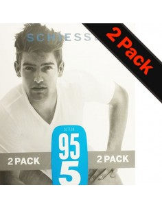 Schiesser V-Shirt 2Pack Wit 95/5