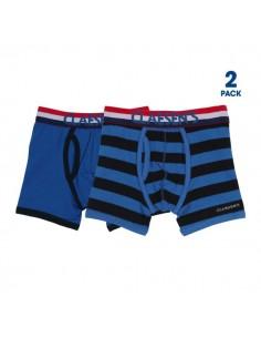 Claesen's Jongens 2Pack Boxershorts Cobalt & Navy Stripes