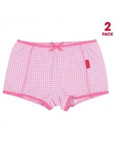 Claesen's Meisjes 2Pack Boxer Small Pink Checks