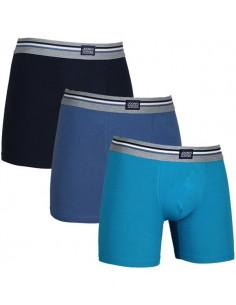 Jockey Boxershorts 3Pack Moon Light Blue Long Boxershort