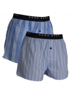 Hugo Boss Woven Boxershorts 2Pack Open Blue
