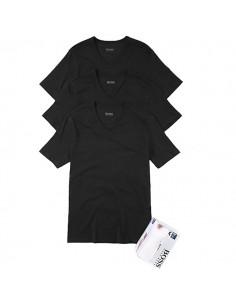 Hugo Boss Shirt V-Neck 3Pack Zwart