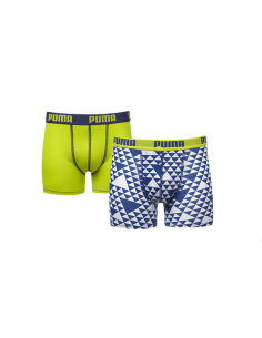 Puma Boxershort Graphic Yellow Blue 2Pack