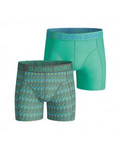 Bjorn Borg Hunting Season Kombu Green 2Pack Boxershorts Jongens Ondergoed