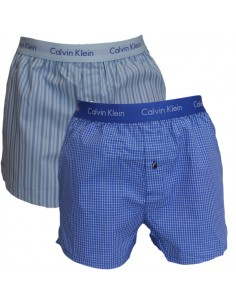 Calvin Klein Ondergoed Woven 2Pack Black BXR Blue Grey