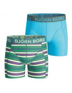 Bjorn Borg Woodland Stripe Fanfare 2Pack Boxershorts Jongens Ondergoed