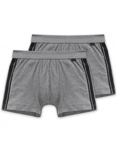 Schiesser Cotton Essentials 2Pack Short Grijs Boxerhort