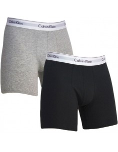 Calvin Klein Ondergoed Modern Cotton Stretch Boxer Grey Black 2Pack