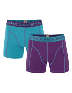 MuchachoMalo Solid 158 Purple Blue 2Pack Kinder Ondergoed