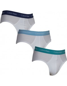 Calvin Klein Ondergoed Slips White Colour Band Blue Green 3Pack Hip Brief