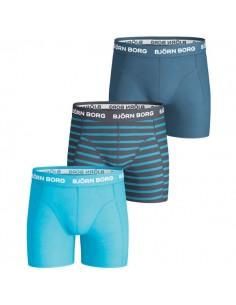 Bjorn Borg 3Pack Boys Basic Stripe Total Eclipse Boxershorts