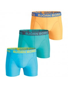 Björn Borg Boxershorts 3Pack Seasonal Solids Aquarius