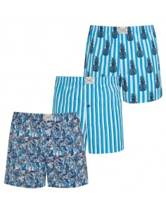 Jockey Boxershort Klassiek Blue pine apple 3Pack