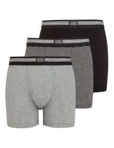 Jockey Boxershorts 3 Black Set long boxershort