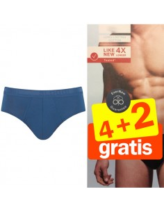 Sloggi Men Midi Evernew blauw 4+2 Gratis 6 pack
