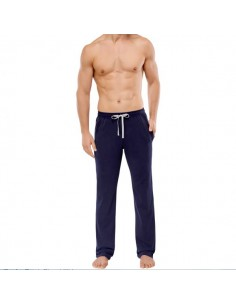 Schiesser Long Pants Lounge Broek Zwart/Navy