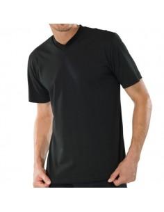 Schiesser American V-Shirt 2Pack Zwart