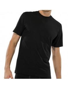 Schiesser American T-Shirt 2Pack Zwart