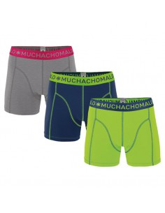 MuchachoMalo Grey Blue Green Solid 184 3Pack Jongens Boxershorts